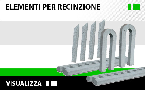 elementi per recinzione